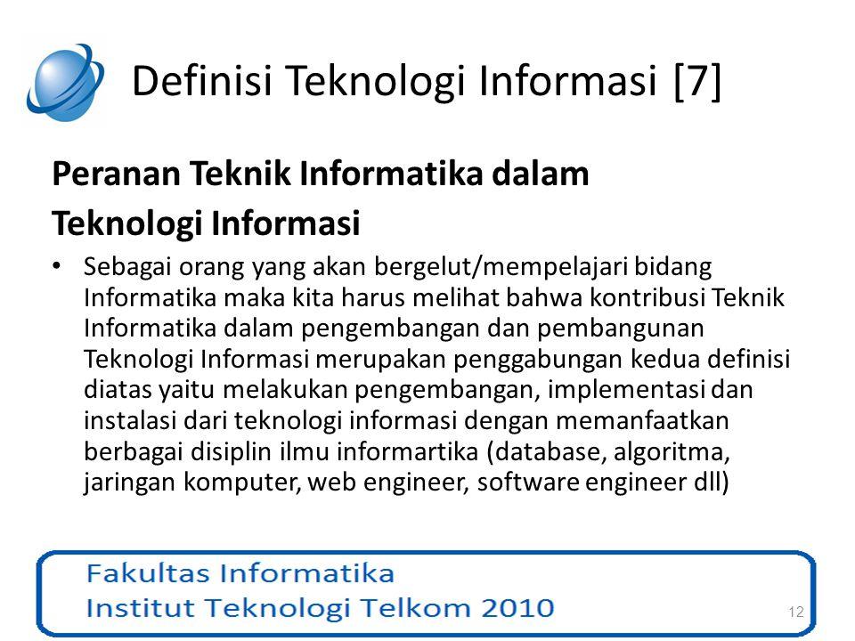 Definisi Teknologi Informasi [7]
